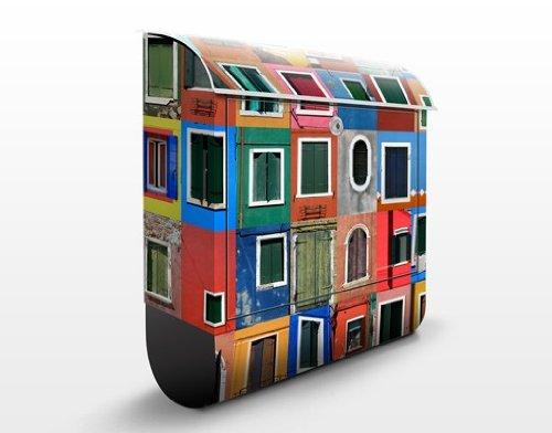 Cassetta postale Windows Of The World | 39x46x13cm Cassetta per lettere Cassetta postale di design con Supporto Giornale Cassetta postale con giornale rotolo Post Box, Dimensione: 46cm x 39cm
