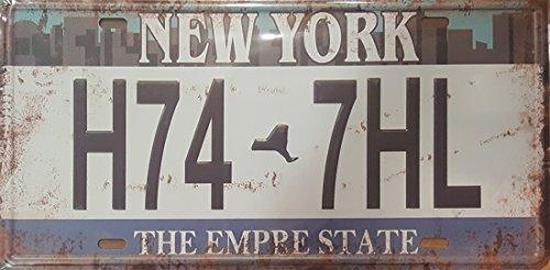 Nostalgie Blechschilder Retro Replik USA Chevy Auto Hot Rod Elvis Nummernschild (New York 15x30)