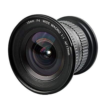 Lente De La Cámara Gran Angular 1: 1 De 15 Mm F4.0 Zoom Manual para Nikon Canon DSLR Camera He