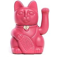 Lucky cat. Le classique chat porte-chance ou Maneki-Neko en plusieurs couleurs. ROUGE FUCHSIA : l'ingéniosité et la créativité. 10x6x15cm.