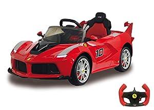Jamara 460409 Ride-on Ferrari LaFerrari FXX K 2,4G 6V-Arranque Suave, 2 velocidades, Conexión Fuentes Audio externas, Sonido, Guía Manual o RC, Luz, Batería Potente, Color Rojo