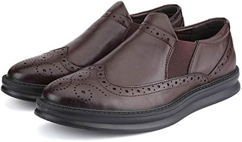 Jiuyue-scarpe, 2018 Business da Uomo Oxford Casual Comfort Low Low Low Help Semplice da Indossare in Slip a Tinta Unita... | Ottima qualità  | Uomini/Donne Scarpa  ef0582