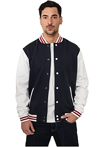 TB444 3-tone College Sweatjacket Herren - 3