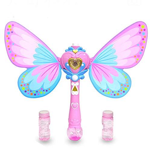 Yvonnezhang Elektrische Bubble Gun Haiyu magische Blase Stick Blase Wasser automatische Leck Licht Musik elektrische @ 3 (Halloween-musik-aktivitäten Für Kindergarten)