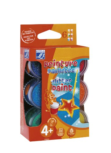 lefranc-bourgeois-200668-assortiment-gouache-pailletee-6-pots-de-22ml