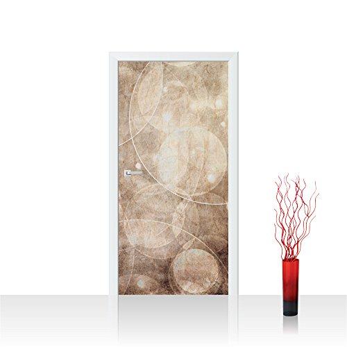 Liwwing â® - Living - carta da parati si sentiva in porta di 100 x 211 cm con immagine decorazione di carta da parati adesiva porta progetto xxl poster per porta disegno astratto colore bolla di sapone - no, 193, beige