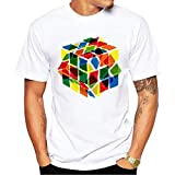 Play The Game Men T Shirt Rubik'S Cube Printed T-Shirt Short Sleeve Casual Basic Tops Cool tee Shirts Men's Cotton T-Shirt Kevin Durant Jersey Collar Camisa Men Long Sleeve T Shirt