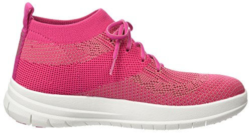 Fitflop Uberknit Slip-On High Top, Sneaker a Collo Alto Donna Multicolour (Fuchsia/Dusky Pink)