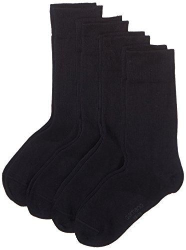 Camano Herren 3512 Ca-Soft Bio-Cotton 4 Paar Socken, Blau (Navy 04), (Herstellergröße: 39/42) (4erPack) - Bio-baumwolle Zehe Socken