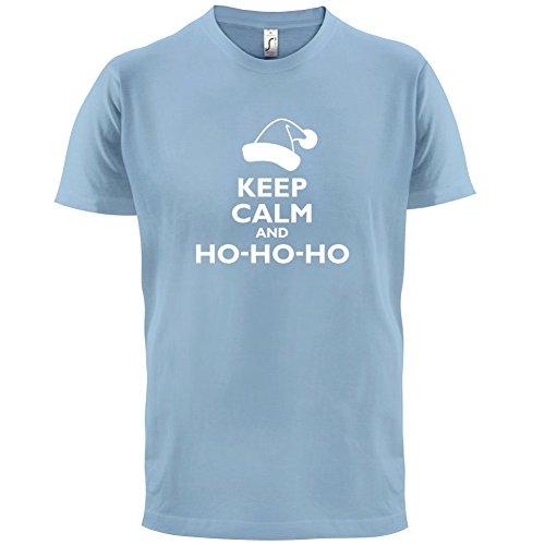 Keep Calm and Ho-Ho-Ho - Herren T-Shirt - 13 Farben Himmelblau