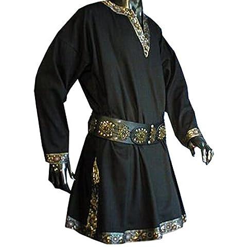 Tunika mit langem Arm, schwarz, Größe M