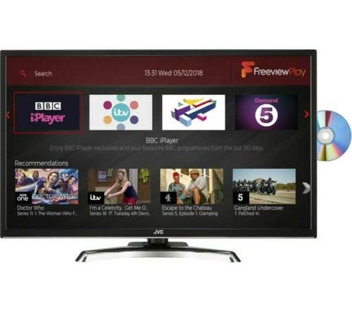 JVC LTC795 32 inch Smart Full HD (1080p) LED TV with Built-in DVD Player and Freeview HD with Freeview Play - (Black)