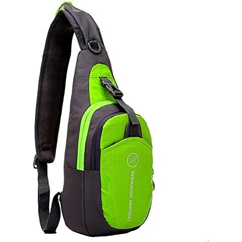 G7Explorer Waterproof Lightweigh Breathable Chest Bag Sling Shoulder Backpack Apple Green