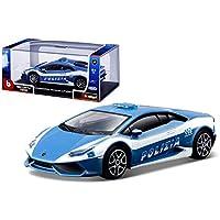 Bburago - Modelo a Escala Lamborghini Huracán - Coche de Policía - Modelo n. 18