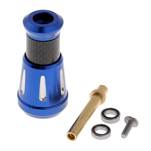 IPOTCH 1 Stück 37mm Angelrolle Griff Knopf Geeignet für alle Baitcastrollen und Spinnrollen, DIY-Zubehör - Blau