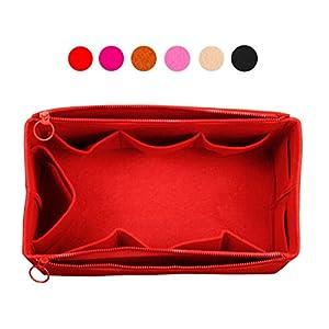 Felt Organizer (Doppel-Reißverschluss-Taschen), Tasche in Tasche, Wolle Geldbörse einfügen, maßgeschneiderte Tote organisieren, Kosmetik-Make-up-Windel-Handtasche