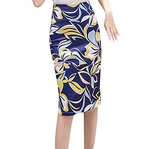 Longzjhd Damen Knielang Rock Skirt Knöpfen A-Linien Bleistiftrock Elastisch Geschnitten Schlauch Röcke Retro Vintage Cocktail Party Kleider Sommer Mode Trend Gemütlich Beiläufig Rock -