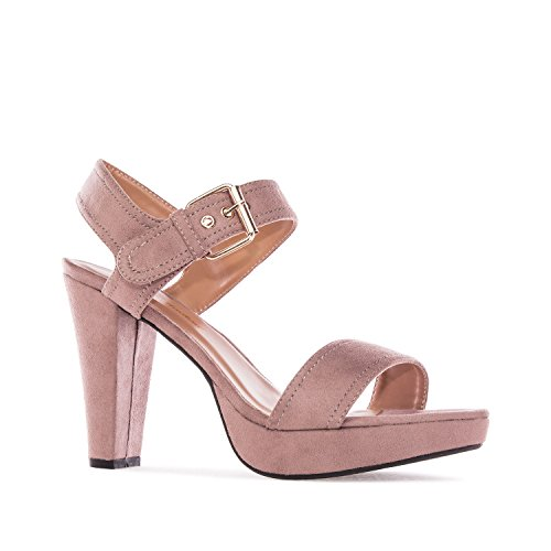 Andres Machado - AM5166 - Sandalen aus Wildleder in Nude AM5166 NUDE