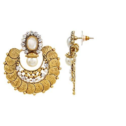YouBella Earrings for women stylish Jewellery Traditional Fancy Party Wear Temple Coin Earrings for Girls and Women