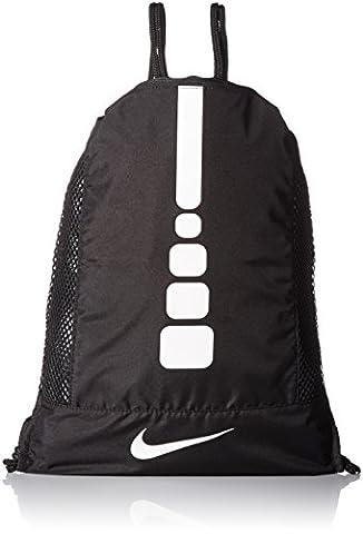 Nike hoops elite Sac, homme Taille unique Noir (Black / Black / White)
