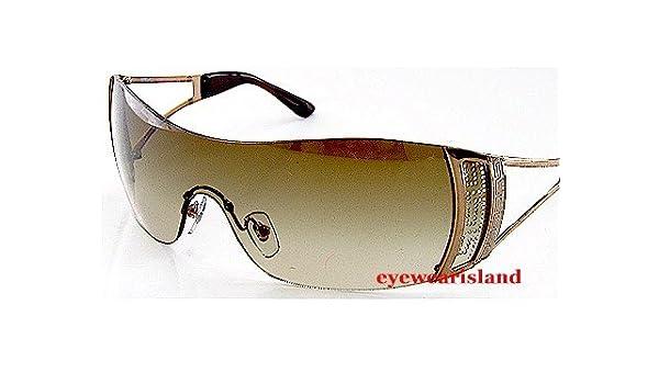 7dd03b9257b4 Versace 2058-B 2058B 1169 13 Soft Brown Lens   Bronze Frame Size 01-37-115  Sunglasses  Amazon.co.uk  Clothing