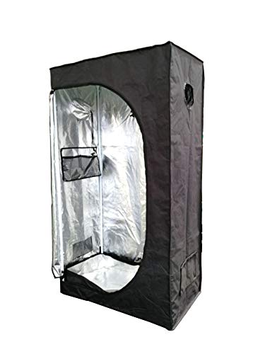 SavingPlus Indoor Grow Light Box Tent Aluminum lined Bud Dark Room for Hydroponic Fan 2 Sizes (90X50X160CM)