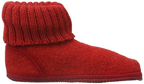 Haflinger Karl, Chaussons mixte adulte Rouge - Rot (Rubin 11)