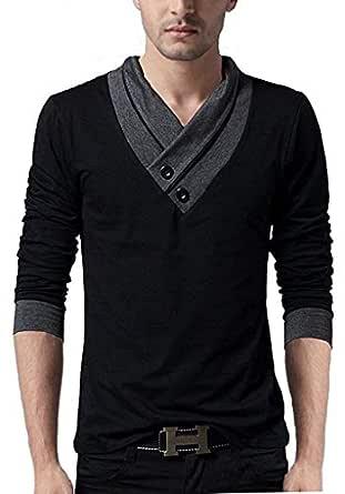 Fashion Gallery Tshirts for Men|V-Neck Tshirts for Mens Full Sleeves|Men's Regular Fit Cotton Tshirt