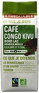 Ethiquable Café Moulu Pure Origine Kivu Congo Bio et Equitable 250 g Max Havelaar - Lot de 4