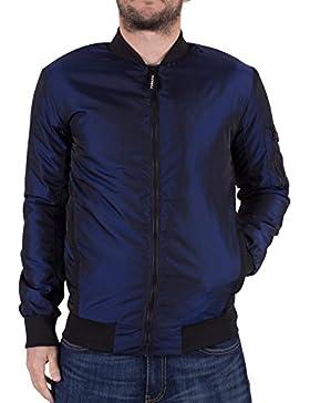 Foray Hombre Halógeno iridiscente chaqueta de bombardero, Azul