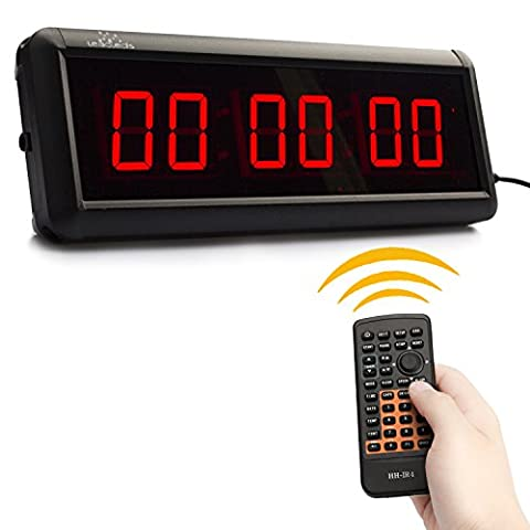 Leadleds 1.5 inch LED Display HH:MM:SS LED Countdown Clock Count Up Countdown Timer Digital Clock For Speech Swim Use Stopwatch With Remote Controlled