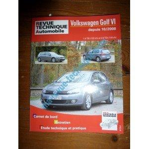 RRevue TechniqueB0736.5 – REVUE TECHNIQUE AUTOMOBILE VOLKSWAGEN VW GOLF VI OU SERIE 6 depuis 10/2008 1.4l TSI 122cv et 2.0l TDI 110cv