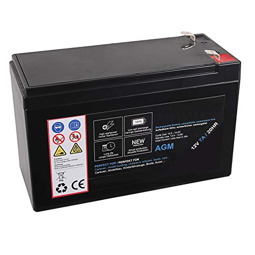 AGM Blei Akku 12V 7Ah 20HR Batterie Glasfaservlies Bleiakku Bleigel Vlies wartungsfrei Technik Universal 7000mah Lead Battery 12 Ah 7000 mah 12 Volt
