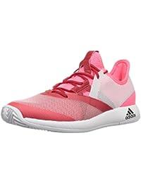 best loved 9484a 10daa adidas Womens Adizero Defiant Bounce Tennis Shoe, Flash RedWhiteScarlet,  11.5