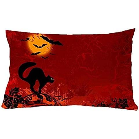 Longra 30 * 50 cm de Halloween Plaza de almohada cubierta con cierre de cremallera (T)