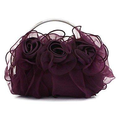 pwne Frauen Seide Hochzeit Abend Tasche Beige Rot Schwarz Silber Violett Schwarz Burgund Champagne Cote D Purple