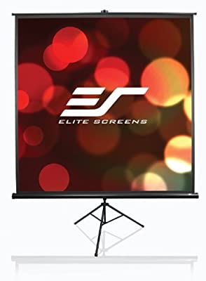 Elite Screens T120UWH Tripod Range Projection Screen Diagonal 10 ft 120 inches Height 150,1 cm (59.1 inches) Width 266,7 (105 Inches) Format 16: 9), Black