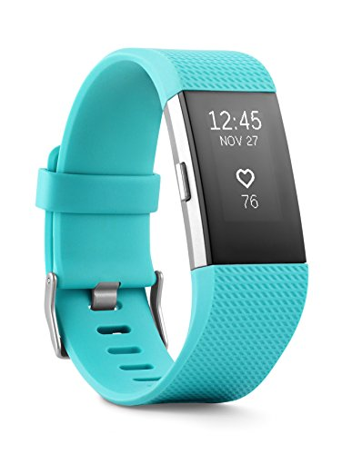 Fitbit Charge 2 Wireless Activity Tracker and Sleep Wristband (Teal/Silver)