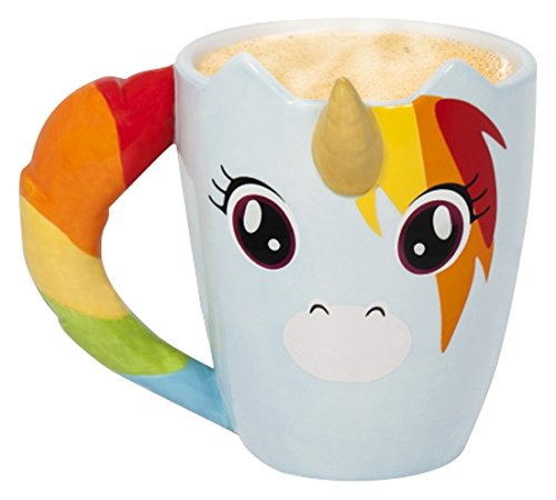 Thumbs Up UniMug Unicorn Tazza Tazza unicorno ceramica multicolore 11 x 10,5 x 11 cm