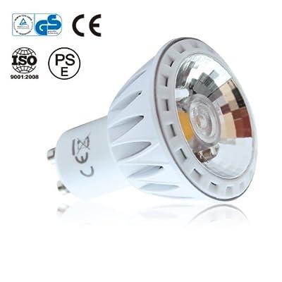 LE 7 Watt dimmbare GU10 LED-Spotlight, LED-Scheinwerfer, ultrahell 440lm, ersatz 60W Halogenlampe, warmweiß, Akzentbeleuchtung von Lighting EVER auf Lampenhans.de