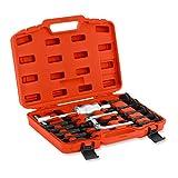 MSW-BP16 Lagerabzieher Set mit Zweiarm-Abzieher Innenabzieher (16-teilig, Abziehdorne 8–58 mm, Stahl, Transportkoffer)