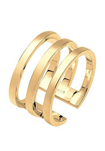 Elli Damen-Ring Must Have Wickelring vergoldet silber 925 Größen verstellbar Gr. 54 (17.2) 0610610215_54
