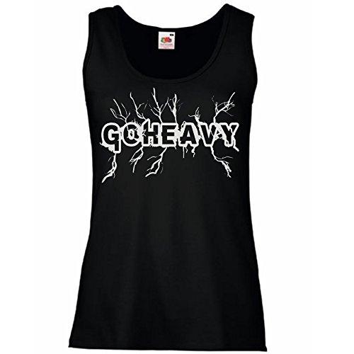 Go Heavy Tank Top para mujer - High Voltage - negro L