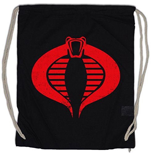 a Logo Turnbeutel Sporttasche Commander Symbol Destro GI Joe Action Force Movie Fun Shirt ()
