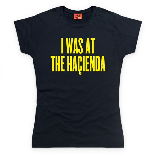 Happy Mondays Hacienda T-Shirt, Damen Schwarz