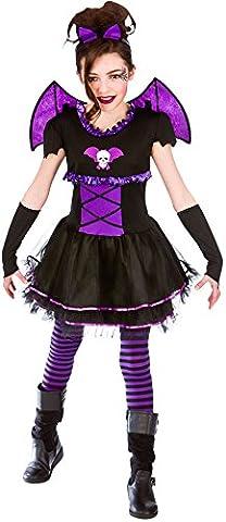 Enfant Noir Horreur Costumes Robe - Batty Ballerina (11-13)
