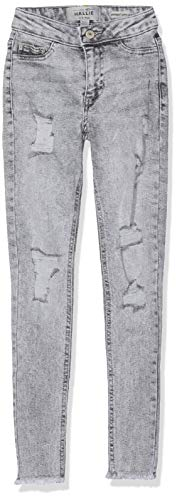New Look 915 Mädchen Acid Wash Jeans Not Applicable, Grau (Mid Grey 4), 11 Jahre (Herstellergröße: 146) (Acid Denim Wash Jean)