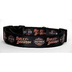 Harley-Davidson Collar Perro Hecho a Mano Talla M con Correa Multiposicion a juego Dog Collar HandMade