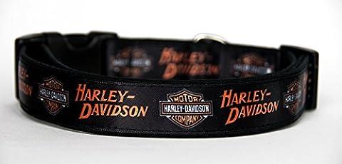 Harley-Davidson Handmade Dog Collar Size M Without Dog Leash