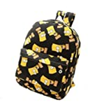 2015 Fashion Cartoon Graffiti Printed Canvas Shoulder Bag Schoolbag Students Backpack